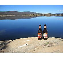 Beer by the Water Photographic Print