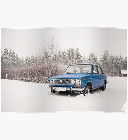 VAZ 2103 in winter Poster