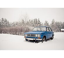 VAZ 2103 in winter Photographic Print