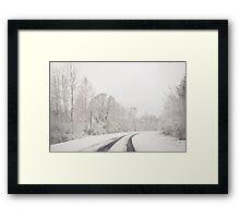 Winter wonderland in Latvia Framed Print