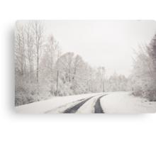 Winter wonderland in Latvia Canvas Print
