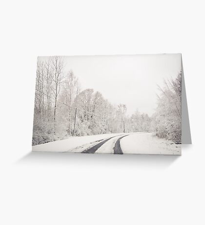 Winter wonderland in Latvia Greeting Card
