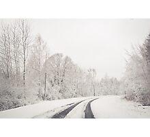 Winter wonderland in Latvia Photographic Print
