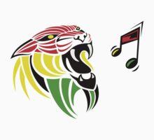 Grunge Reggae Music Lion T Shirt Prints Stickers by Denis Marsili - DDTK