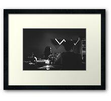 Careful listener Framed Print