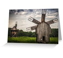 Wind mill Greeting Card