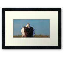 Behind You! Framed Print