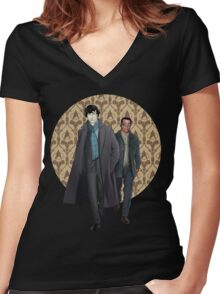 STARLOCK Women's Fitted V-Neck T-Shirt