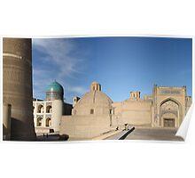 Mosque, Madrassa, Minaret, Bukhara, Silk Road Poster