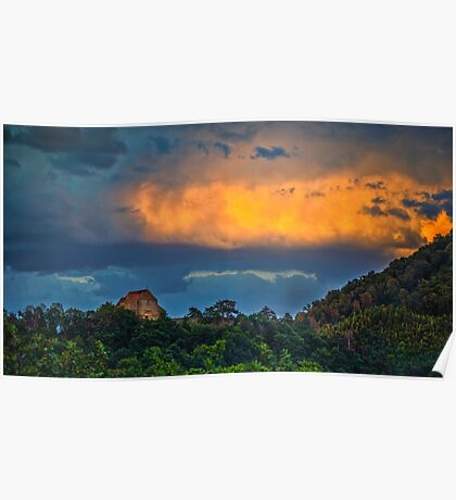 Incredible sunset Poster
