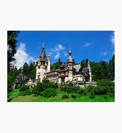 Peles castle Photographic Print