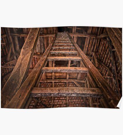 Wooden ladder Poster