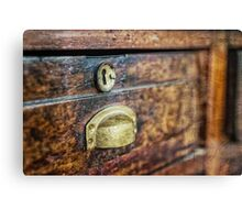 Old cabinet Canvas Print