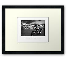 Jonas' Bike Framed Print