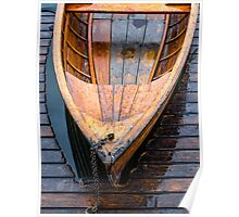 Wooden boat Poster