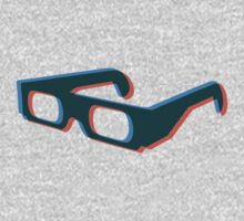 3D illusion of glasses Baby Tee