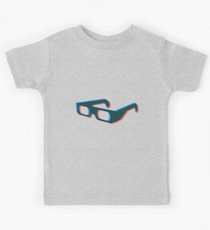 3D illusion of glasses Kids Tee