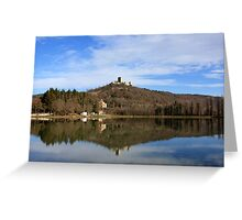 Puivert Castle (France) Greeting Card