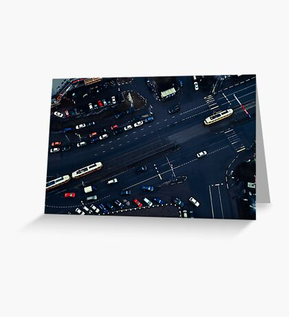Moscow traffic Greeting Card