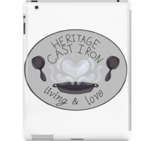 Heritage Cast Iron Living and Love iPad Case/Skin