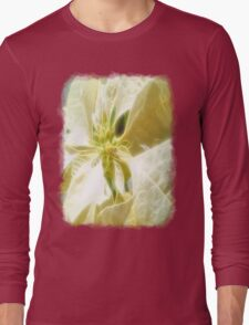 Pale Yellow Poinsettia 1 Angelic Long Sleeve T-Shirt