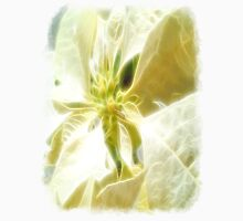 Pale Yellow Poinsettia 1 Angelic Unisex T-Shirt