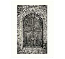Old wooden door Art Print