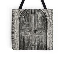 Old wooden door Tote Bag
