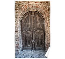 Old wooden door Poster