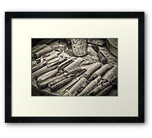 Work Tools: Chisel - monochrome Framed Print