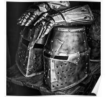 Knight helmet Poster