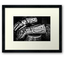 Knight gloves Framed Print