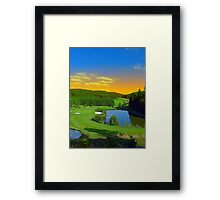 Summer sunset at the golf club | landscape photography Framed Print