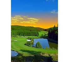 Summer sunset at the golf club | landscape photography Photographic Print