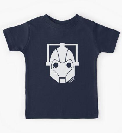 Geek Shirt #1 Cyberman (White) Kids Tee