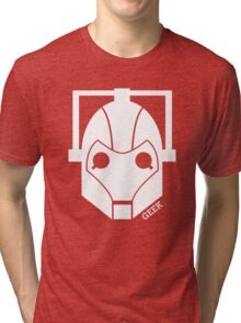 Geek Shirt #1 Cyberman (White) Tri-blend T-Shirt