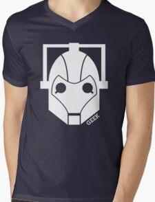 Geek Shirt #1 Cyberman (White) Mens V-Neck T-Shirt