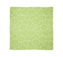 Swirls and Spirals   Abstract Waves   Lime Green and White Scarf