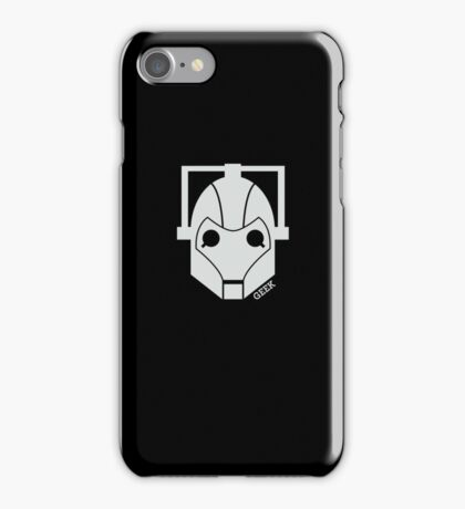 Geek Shirt #1 Cyberman (White) iPhone Case/Skin