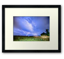 75th and Woodland Lightning Thunderstorm View HDR Framed Print