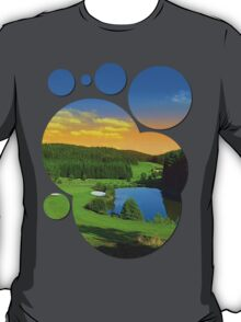 Summer sunset at the golf club | landscape photography T-Shirt