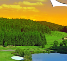 Summer sunset at the golf club | landscape photography Sticker