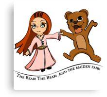 The Bear And The Maiden Fair Canvas Print