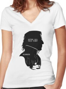 """""""After all this time?"""" """"ALWAYS"""" Women's Fitted V-Neck T-Shirt"""