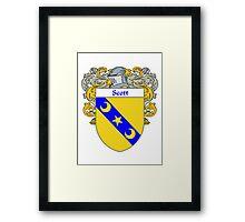 Scott Coat of Arms / Scott Family Crest Framed Print
