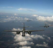 RAF Bostons at medium altitude by Gary Eason + Flight Artworks