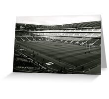 Twickenham. Black and White. Greeting Card