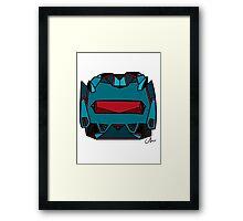 Vanguard Armor | Head Framed Print