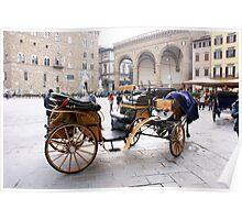 Firenze Piazza Signoria(Italy) Poster