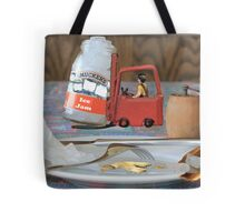 Clarence hates winter ....he's always being called out to clear the ice jams! Tote Bag